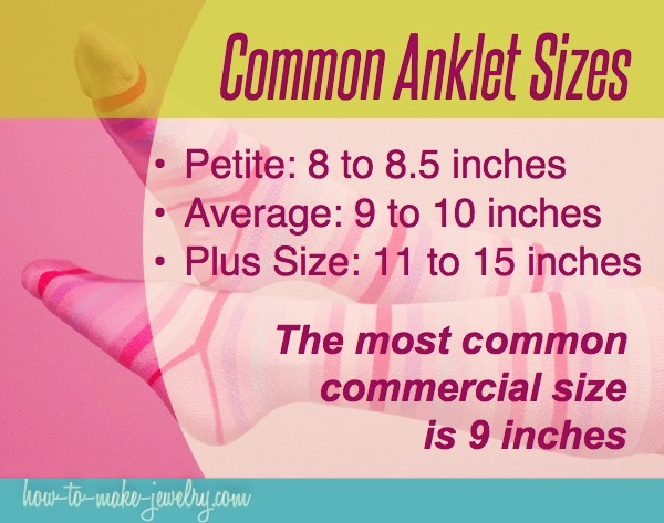 Common Anklet Sizes Infographic Poster