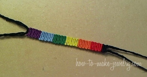Rainbow Friendship Bracelet Tutorial