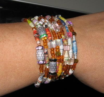 Bracelet Made With Paper Beads
