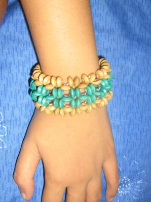 i used wooden beads.