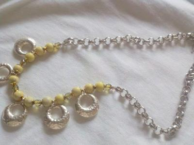 Beautiful peridot jasper with amazing silver charms and chain~